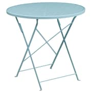 Flash Furniture 30'' Round White Indoor-Outdoor Steel Folding Patio Table