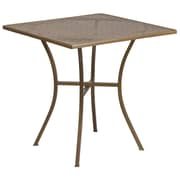 28'' Square Gold Indoor-Outdoor Steel Patio Table [CO-5-GD-GG]