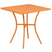 28'' Square Orange Indoor-Outdoor Steel Patio Table [CO-5-OR-GG]