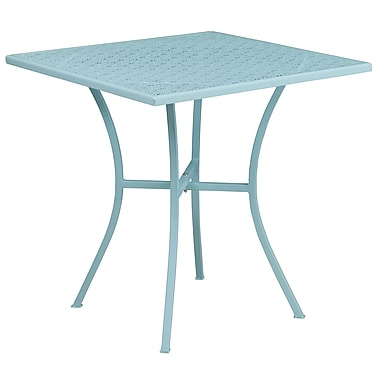 28'' Square Sky Blue Indoor-Outdoor Steel Patio Table [CO-5-SKY-GG]