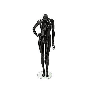 Econoco Mannequins, Female Mannequin - Headless, Right Hand on Hip, Left Leg Slightly Bent, Each, 18x45.25x15 in.