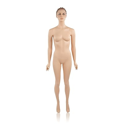 Econoco Mannequins, Female w/ Hands by Side; w/ Makeup, Each, 17.72x44.49x15.35 in.