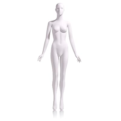Econoco Mannequins, Female - Abstract Head facing straight, arms at side, Each, 18x46.75x15 in.
