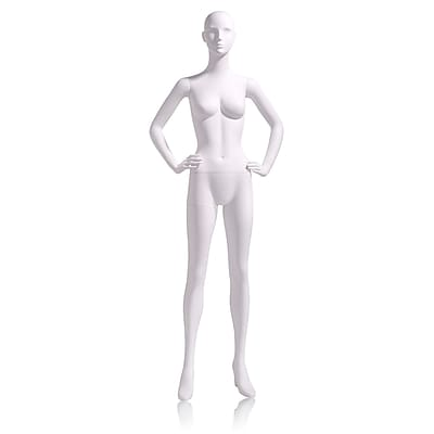 Econoco Mannequins, Female - Abstract head facing straight, hands on hip, Each, 17.5x47.5x15 in.