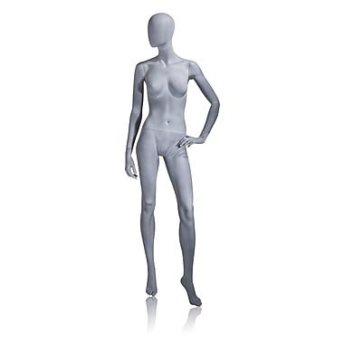 Econoco Mannequins, Female Mannequin - Oval Head, Left Hand on Hip, Left Leg Forward, Each, 17.75x45.5x15 in.