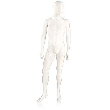 Mondo Mannequins, Male Mannequin - Oval Head, Arms at Side, Right Leg Slightly Bent, Each, 18x46.5x17.25 in. (UBM-2-H1-144)