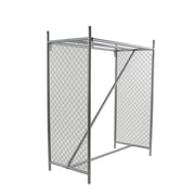 "Econoco FC60/EC, 50-1/2""L x 24-3/4""W x 60""H Double Hangrail Floor Rack, Each"