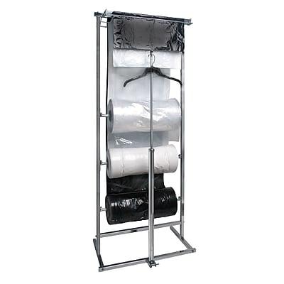 Econoco K30, 3 Roll Polyethylene Horizontal Dispensing Rack - Square Tubing, Chrome, Each