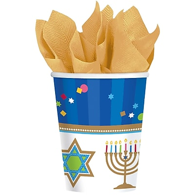 Amscan Hanukkah Celebrations Cup, 9oz, 3/Pack, 18 Per Pack (733803) 2502625