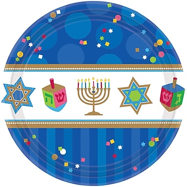 Amscan Hanukkah Celebrations Paper Plate, 7