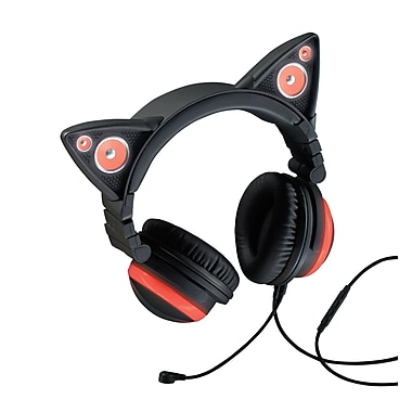 Brookstone Cat Ear Headphones with Speakers 990636