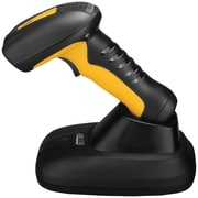 Adesso® Bluetooth Antimicrobial CCD 1D Handheld Barcode Scanner, Black/Yellow (NUSCAN 4100B)