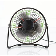 Brookstone Clock Fan with Floating LED Time Display 895528