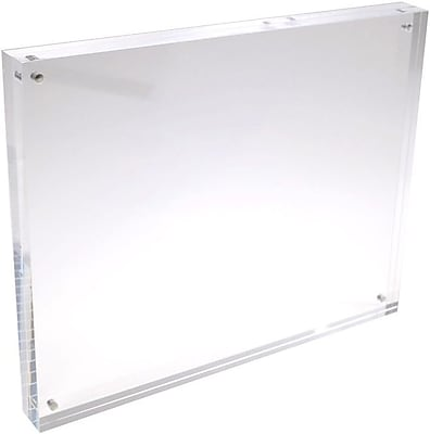 Solitary Rock Clear Acrylic Magnetic Block Picture Frame 5x7 (1AMF050709S)