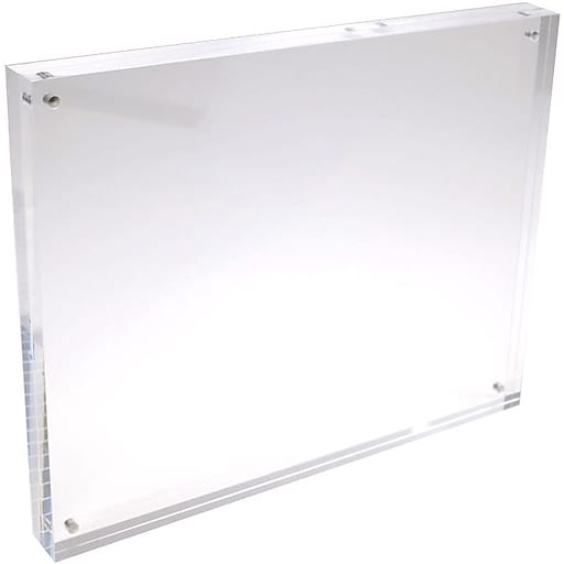 Solitary Rock Clear Acrylic Magnetic Block Picture Frame 5x7 ...