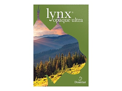 """Domtar Lynx opaque ultra 8.5"""" x 11"""" Cover Paper, 65 lbs, 98 Brightness, 500/Ream, 5 Reams/Carton (634000CASE)"""