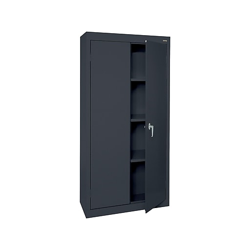 "Sandusky Value Line 72"" Welded Steel Storage Cabinet with 4 Shelves, Black (VF31301572-09)"