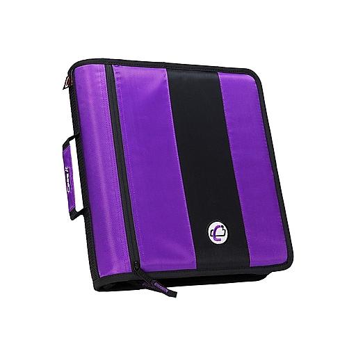 """Shop Staples For Case•it D-251 Purple 2"""" Zipper Binder"""