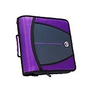 "Case-it Mighty Zip Tab 3"" 3-Ring Zipper Binder, Purple (D-146 PUR)"