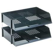 Deflect-O Side Loading Letter Trays, Black, 2/Set (582704)