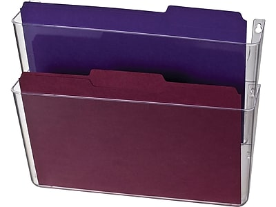 OfficeMate 2-Pocket Plastic Wall File, Clear (21404)