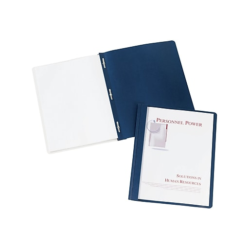 Avery 3-Prong Report Covers, Letter, Dark Blue, 25/Box (47961)
