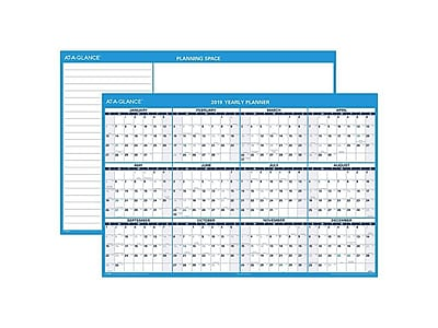 "2019 AT-A-GLANCE 32""H x 48""W Wall Calendar, XL Horizontal, White (PM3002819)"