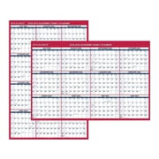 "2018-2019 Academic AT-A-GLANCE 32""H x 48""W Wall Calendar, XL 2-Sided, Red (PM36AP2819)"