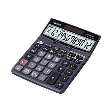 Casio DJ-120D 12-Digit Desktop Calculator, Black