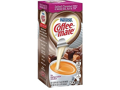 Coffee-mate Salted Caramel Chocolate Liquid Creamer, 0.38 Oz., 50/Box (77197)