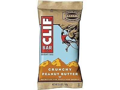 Clif Bar Crunchy Bars, Peanut Butter, 2.4 Oz., 12/Box (CCC50120)