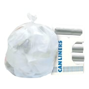 Heritage 20-30 Gallon Trash Bags, 30x37, High Density, 8 Mic, Natural, 20 Bags/Roll, 25 Rolls (Z6037LN R01)