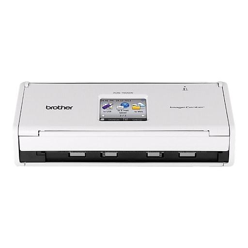 Brother ImageCenter ADS-1500W Wireless Desktop Scanner, White