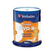 Verbatim Life Series 98491 16x DVD-R, White Inkjet Printable, Hub Printable, 100/Pack