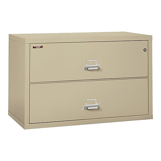 new concept d8cf5 5131a FireKing Classic 2-Drawer Lateral File Cabinet, Fire Resistant, Beige,  Letter/Legal, 44.5