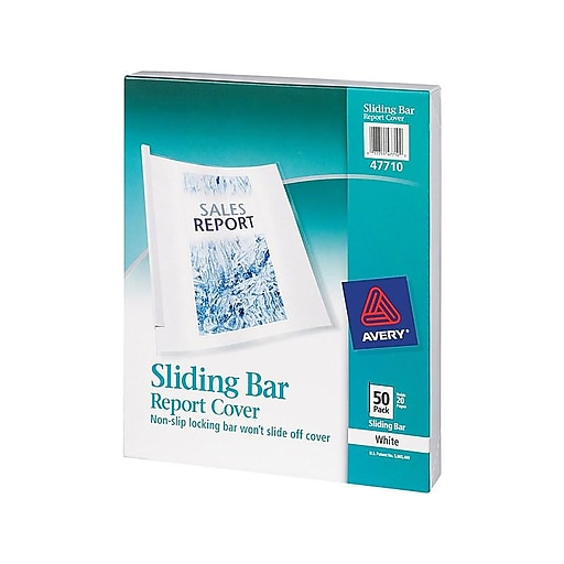Black Sliding Bar Report Cover spines SPINES ONLY Pack Of 25