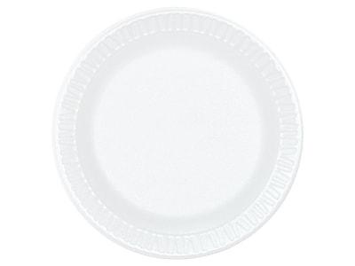 Dart Concorde Foam Plates, White, 1000/Carton (6PWCR)