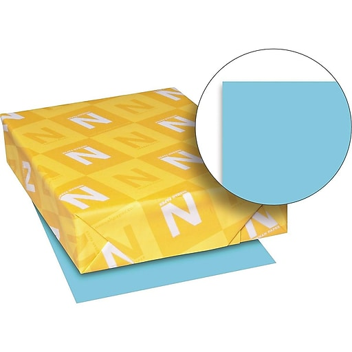 "Exact Brights Multipurpose Paper, 20 lbs, 8.5"" x 11"", Bright Blue, 500/Ream (26781)"