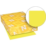 "Astrobrights Cardstock Paper, 65 lbs., 8.5"" x 11"", Sunburst Yellow, 250/Pack (22791)"