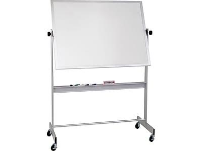Best-Rite Deluxe Porcelain Dry-Erase Whiteboard, Anodized Aluminum Frame, 6' x 4' (668AG-DD)
