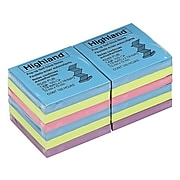 """Highland™ Pop-up Notes, 3"""" x 3"""", Assorted Colors, 12 Pads (6549-PUB)"""