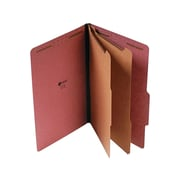 "Universal Pressboard Classification Folders, 2/5-Cut Tab, 2"" Expansion, Legal Size, Red, 10/Box (UNV10280)"