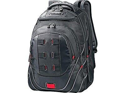 Samsonite Tectonic Perfect Fit Laptop Backpack, Black/Red (515311073)