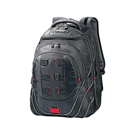 Samsonite Tectonic Perfect Fit Laptop Backpack, Black/Red (515311073)