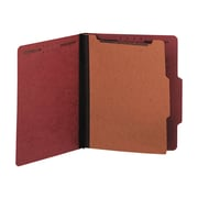 "Universal Pressboard Classification Folders, 2/5-Cut Tab, 2"" Expansion, Letter Size, Red, 10/Box (UNV10250)"