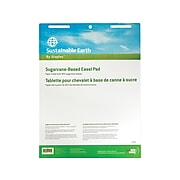 """Sustainable Earth by Staples Easel Pads, 27"""" x 36"""", White, 50 Sheets/Pad, 4 Pads/Carton (17640)"""