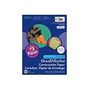 "SunWorks 9""W x 12""L Construction Paper, Blue, 50 Sheets/Pack (7403)"