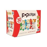 popchips Chips, Variety, 0.8 Oz., 30/Carton (SMC94002)