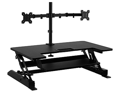 Mount-It! Adjustable Riser with Dual Monitor Stand, Aluminum (MI-7934)