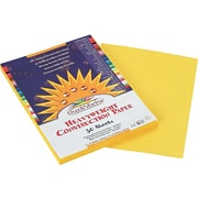 "SunWorks 9""W x 12""L Construction Paper, Yellow, 50/Pack (8403)"